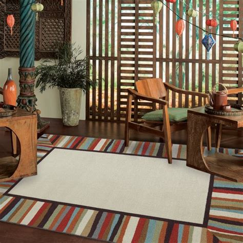 patio rugs at walmart mohawk home patio border indoor outdoor rug rainbow