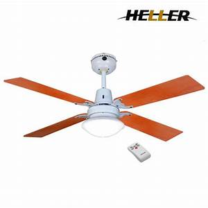 Heller sienna mm blade ceiling fan w light remote