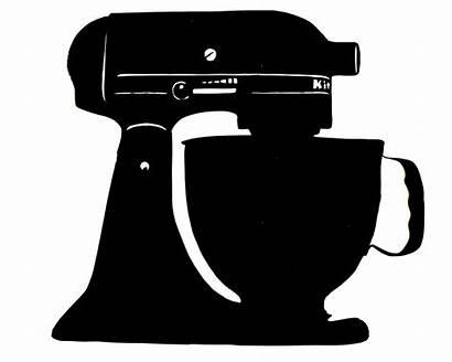 Mixer Clipart Kitchenaid Silhouette Kitchen Hand Stand