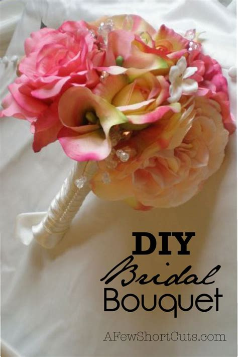 diy bridal bouquet wedding ways to save money and bouquets