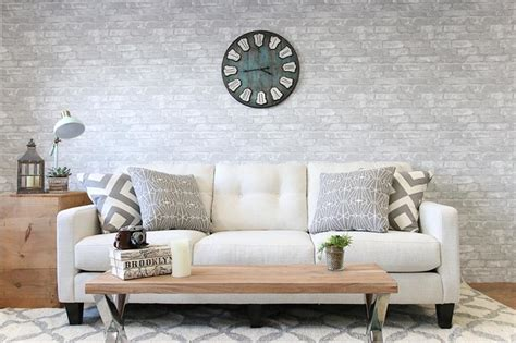 Update Your Decor With This Gray Brick Peel And Stick Wallpaper by Update Your Decor With This Gray Brick Peel And Stick