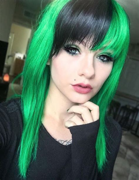 Color Hairstyles For Hair by 31 Glamorous Green Hairstyle Ideas 2019 Update