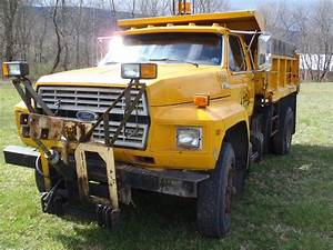 1988 Ford F700 Dump  Plow Truck Online Government Auctions Of Government Surplus