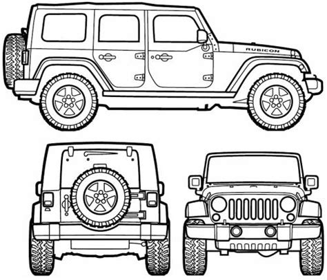 4 door jeep drawing jeep wrangler unlimited 2007 voor kamer boet kids