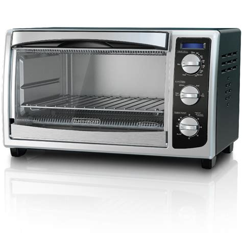 Black Toaster Oven by Black Decker To1675b 6 Slice Convection Countertop Toaster