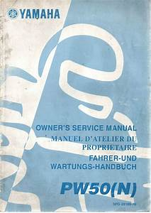 Yamaha Motorbike Pw50 N Factory Owners Service Manual 1st