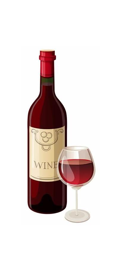 Wine Bottle Clipart Glass Drinks Vector Transparent