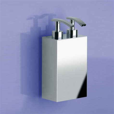 WINDISCH 90124 wall-mounted double soap dispenser chrome