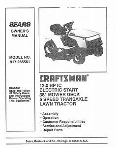 Craftsman 917 255561 User Manual