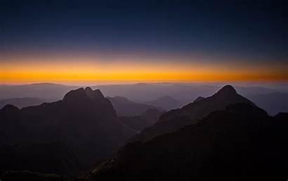 Sunset 4k Mountains Horizon Wallpapers