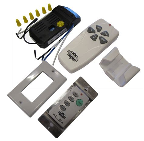 ceiling fan hand held and in wall remote controls high