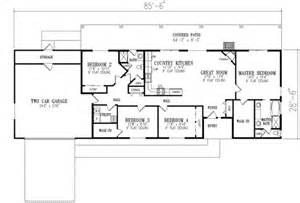 4 bedroom ranch floor plans ranch style house plan 4 beds 2 baths 1720 sq ft plan 1 350