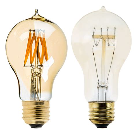 a19 led bulb gold tint style led filament bulb