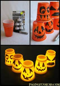 Plastic Cup Halloween Crafts