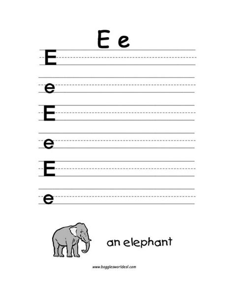 letter  alphabet worksheets