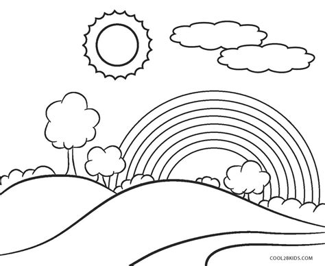Coloring Free by Free Printable Rainbow Coloring Pages For Cool2bkids