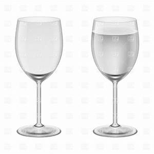 Empty wineglass and wineglasses with water Vector Image ...