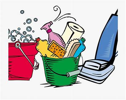 Cleaning Supplies Clip Clipart Household Service Cartoon