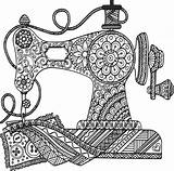 Sewing Machine Zentangle Mandala Svg Svgs Geeksvgs Elephant Coloring Drawing Pages Colouring Cricut Mandalas Camera Pattern Fieldsofhether Pdf Adult Geeks sketch template