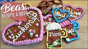 Lebkuchenherzen Selber Machen : lebkuchenherzen rezept mit zuckerdeko oktoberfest herzen selber machen youtube ~ Frokenaadalensverden.com Haus und Dekorationen
