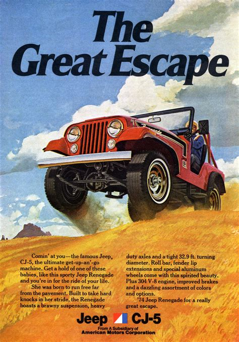 jeep escape jeep 174 cj5 renegade history the great escape the jeep blog