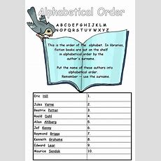 Alphabetical Order Worksheet For Year 3 And 4  Library Skills  Pinterest  Alphabetical Order