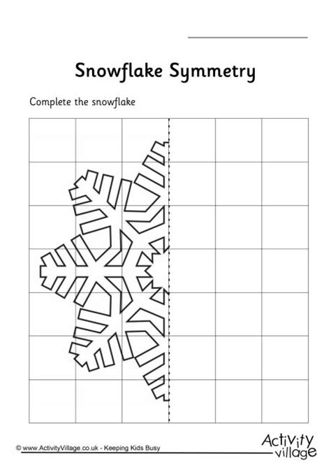 snowflake symmetry worksheet inspiration