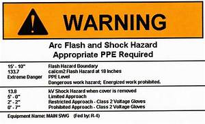 thermotest arc flash and short circuit studies With arc flash danger label