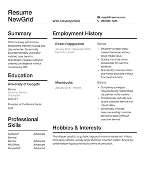 Build My Free Resume by Free Resume Builder 183 Resume