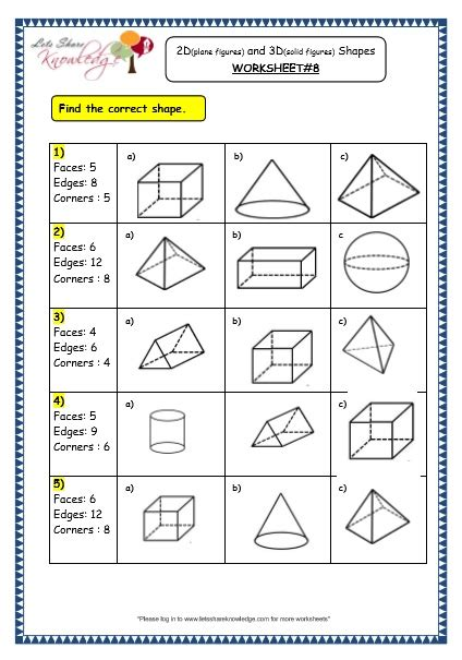 solid figures worksheet the best and most comprehensive