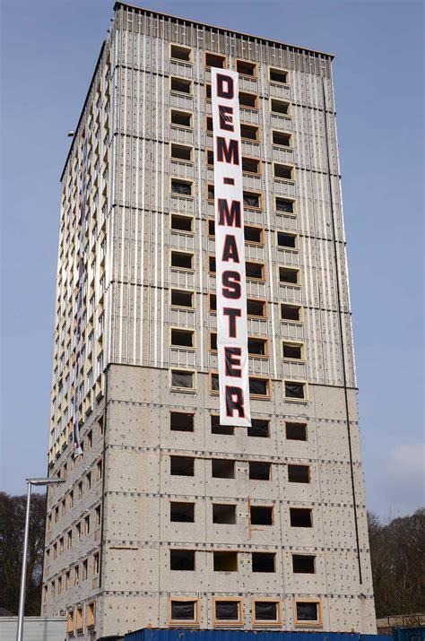 tower block ramsay court kincardine dem master demolition