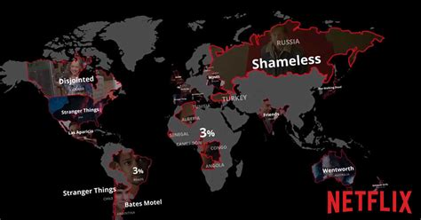 Netflix Map Shows You The Most Popular Shows All Over The