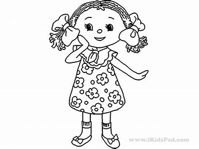 Doll Coloring Pages Printable Colouring Paper American