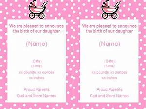 announcement flyer templates free online flyers With online baby announcement templates
