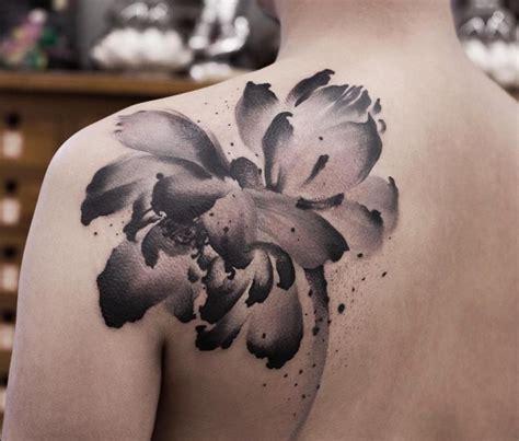 poetic tattoo design  watercolor  ink wash