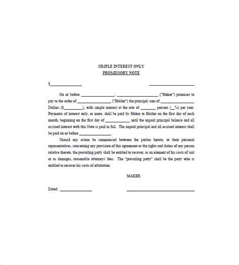 interest  loan promissory note sample  personal