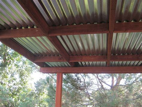 corrugated metal pergola topdeck roof  greenfrieda