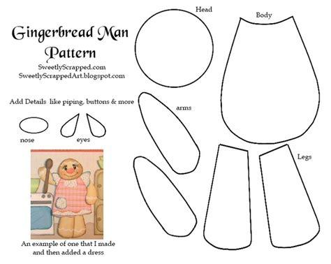 17 Best Ideas About Gingerbread Man Template On Pinterest
