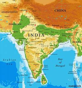 U0026quot Physical Map Of India U0026quot  Stock Photo And Royalty