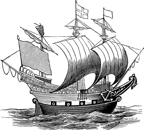 Dessin Bateau Laser by Old Sailing Ships Clipart Old English Pencil And In