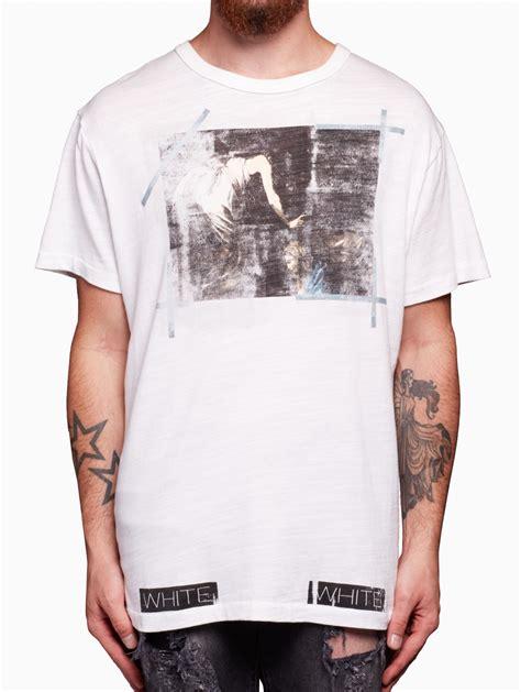 white c o virgil abloh caravaggio t shirt in white for