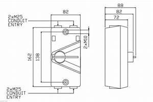 2 X 20 Amp 3 Phase Switch Isolator Ip66 Weatherproof
