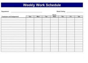 excel schedule maker word excel