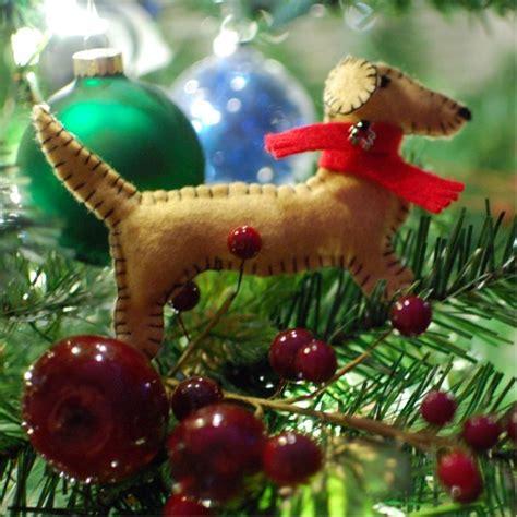 dachshund felt ornaments handmade holiday spabettie