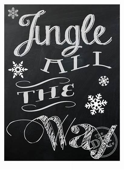 Chalkboard Printables Christmas Jingle Way Holiday Printable