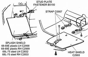 Splash Shield And Heat Shield - Diagram View