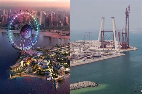 worlds largest ferris wheel takes shape  dubai