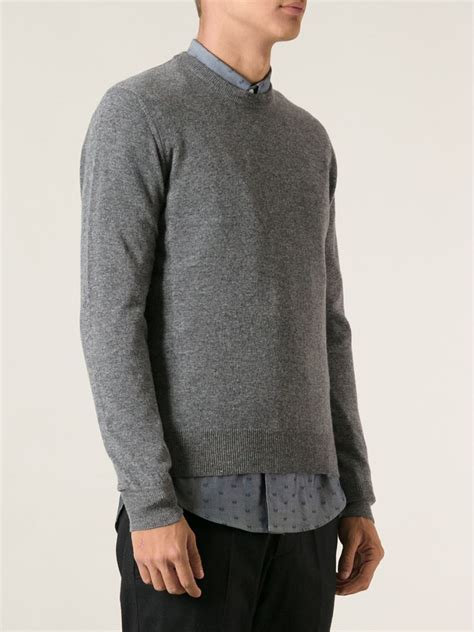 moncler sweater moncler 39 maglione 39 sweater in gray for lyst