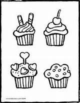 Cupcakes Kiddicolour Kleurplaat Coloring Cupcake Colouring Magdalenas Kiddimalseite Kiddicoloriage Drawing Bakery Mail Tekening Empfaenger Ausmalbilder Kleurplaten Ultra Bowl Super Dessin sketch template