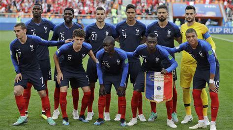 Fifa World Cup France Peru Match Group Pics